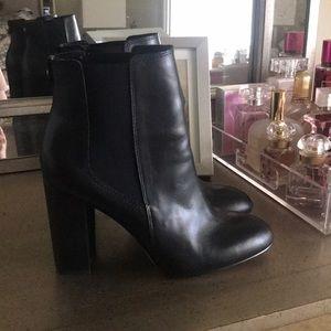 Sam Edelman black leather booties